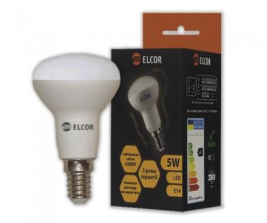 Фото1 Лампа LED R50 5Вт Е14 4200K ELCOR
