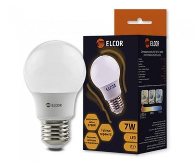 Фото1 Лампа LED А55 7Вт Е27 2700K ELCOR