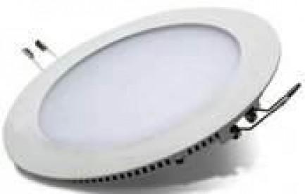 Фото1 Світлодіодна панель Lumex кругла-9Вт вбудована (Ø148х14) 6400-6500K 530Lm