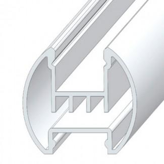 Фото2 LED-профиль ЛСК для лент круглой формы, вн.ширина 12,2 мм, размеры 23,5*28,7*2000 мм (стекло-рассеив