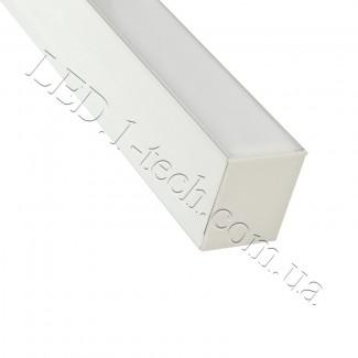 Фото1 Профиль алюминиевый для светодиодных лент №12 прямоугольный 42х37мм