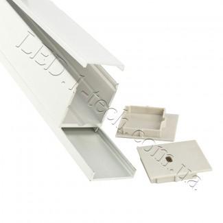 Фото2 Профиль алюминиевый для светодиодных лент №12 прямоугольный 42х37мм