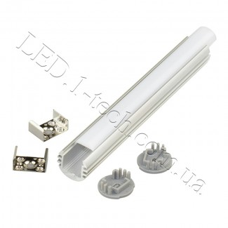 Фото2 Профиль алюминиевый для светодиодных лент №5 круглый ф.18x1000мм