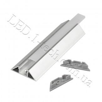 Фото3 Профиль алюминиевый для светодиодных лент №6 трапеция 12х40х13x1000мм