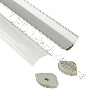 Фото2 Профиль алюминиевый для светодиодных лент №8 угловой-овальный 30х30х1000мм