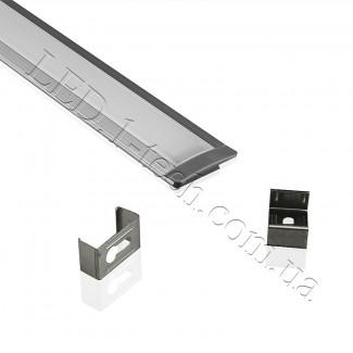 Фото1 Профиль алюминиевый для светодиодных лент №1 с фланцем 25х8.5х1000мм