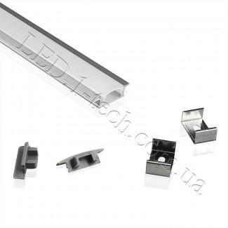 Фото3 Профиль алюминиевый для светодиодных лент №1 с фланцем 25х8.5х1000мм