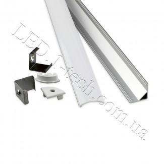 Фото2 Профиль алюминиевый для светодиодных лент №3 угловой 16х16х1000мм