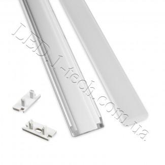 Фото2 Профиль алюминиевый для светодиодных лент №4 прямоуг. 19х8,5х1000мм