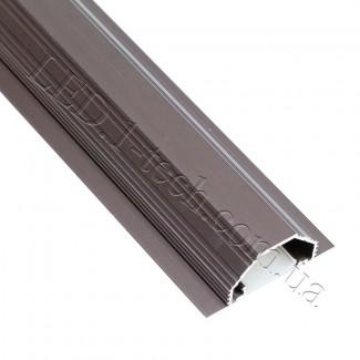 Фото3 Профиль алюминиевый для светодиодных лент №14 с фланцем бронза 50х20мм