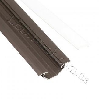 Фото2 Профиль алюминиевый для светодиодных лент №14 с фланцем бронза 50х20мм