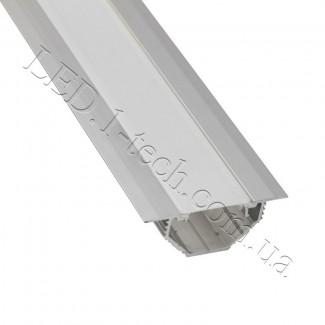 Фото1 Профиль алюминиевый для светодиодных лент №13 с фланцем серебро 50х20мм