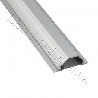 Фото2 Профиль алюминиевый для светодиодных лент №13 с фланцем серебро 50х20мм