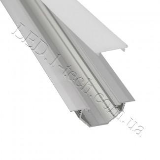 Фото3 Профиль алюминиевый для светодиодных лент №13 с фланцем серебро 50х20мм