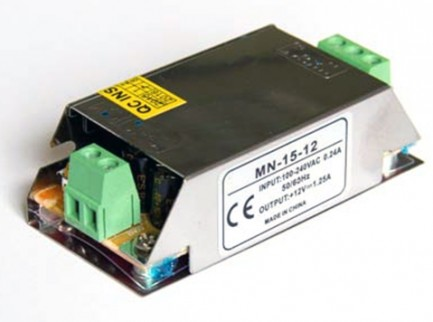 Фото1 PSС12VDC-1.25A-15W - Блок питания Compact 85-264VАС>12VDC-1.25A, 15Вт