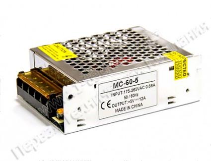 Фото1 PSMС5VDC-10A-60W - Блок питания серия Smart, 5V, 60W