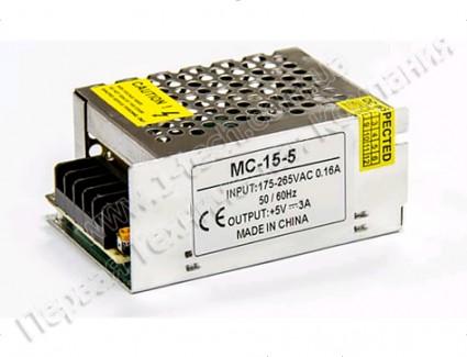 Фото1 PSMС5VDC-3A-15W - Блок питания серия Smart, 5V, 15W