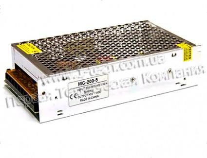 Фото1 PSMС5VDC-40A-200W - Блок питания серия Smart, 5V, 200W