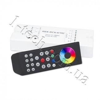 Фото1 RBX-RCV-4/192 RGB контроллер-приемник и пульт RBX-RMT (до 10 зон)