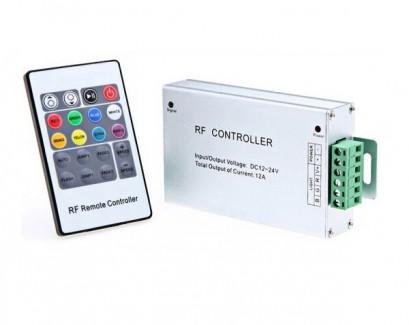 Фото1 LT-CTR65 - RGB контроллер, 3 канала, 12V, 24A, белый радио пульт 20 кнопок