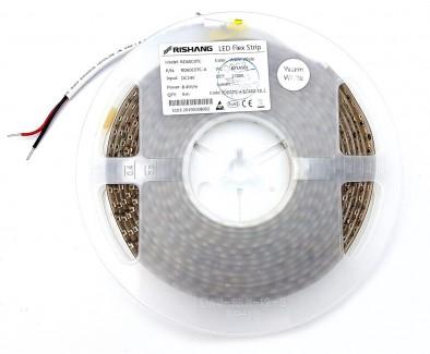 Фото1 RD60C0TC-B-WW - Светодиодная герметичная лента Rishang 120х SMD 2835, 24VDC, 8.4 Вт/м, 8*5000, цвет-