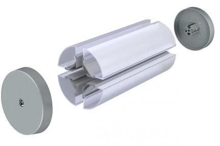 Фото3 LED-профиль ЛСУ для лент угловой, вн.ширина 13,15 мм, размеры 15,3*20,2*2000 мм (стекло-рассеиватель