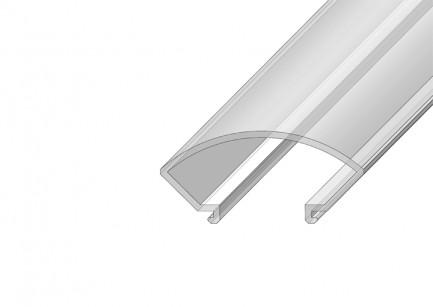 Фото1 РСК - Рассеиватель матовый полукруглый для угловых LED профилей серии ЛС, размеры 14,4*31,8*2000 мм,