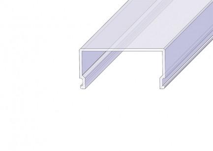 Фото1 РСП - Рассеиватель матовый РСП прямоугольный для П-образных LED профилей серии ЛС, размеры 12*32,4*2