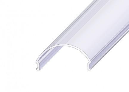 Фото1 РСР - Рассеиватель матовый полукруглый для П-образных LED профилей серии ЛС, размеры 15,2*32,4*2000