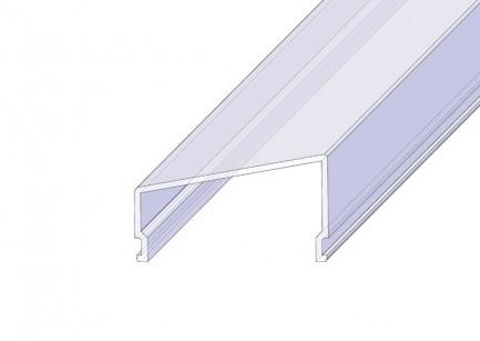 """Фото1 РСТ - Рассеиватель матовый """"трапеция"""" для П-образных LED профилей серии ЛС, размеры 18(12)*32,4*2000"""