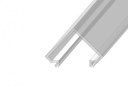 Фото1 РСУ - Рассеиватель матовый угловой для угловых LED профилей серии ЛС, размеры 17,3*25,5*2000 мм, пол