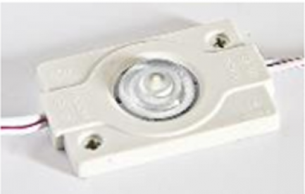 Фото1 # 99 МТК-3030-1Led-W-1,5W - LED модуль SMD3030 с линзой, 12V, 1.5W, 8000K, IP65