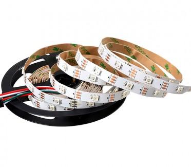 Фото1 AVT-01-S-shape - LED лента RGB, серия SMART, программируемая, SMD5050, 48 д/м, 11.5W