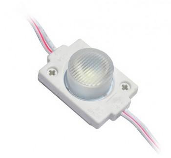 Фото1 # 98 МТК-3030-1Led-W-1,5W - LED модуль инжекторный SMD3030, с линзой, 12V, 1.5W, 8000K, IP65