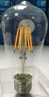 Фото4 SLL E27-ST64-7.5W - LED лампа филамент, 7.5W, тип ST64, цоколь E27, вытянутая лампа Эдисона