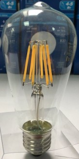 Фото3 SLL E27-ST64-10W - LED лампа филамент, 10W, тип ST64, цоколь E27, вытянутая лампа Эдисона