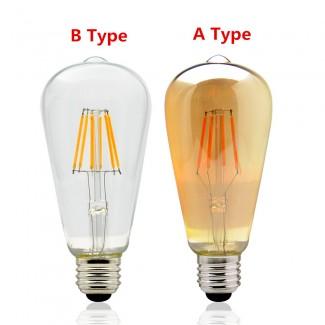 Фото4 SLL E27-ST64-10W - LED лампа филамент, 10W, тип ST64, цоколь E27, вытянутая лампа Эдисона