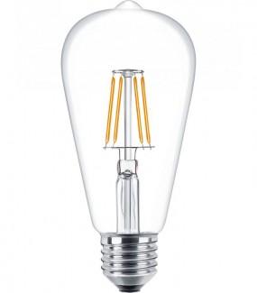 Фото1 SLL E27-ST64-5W - LED лампа филамент, 5W, тип ST64, цоколь E27, вытянутая лампа Эдисона