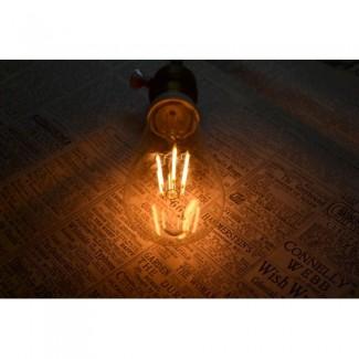Фото7 SLL E27-ST58-4W - LED лампа филамент, 4W, тип ST58, цоколь E27, вытянутая лампа Эдисона