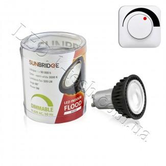 Фото2 LED лампа SUNBRIDGE GU10-5W-HSD Dimmable