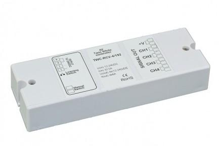 Фото1 TWC-RCV-4-192 Контроллер мультибелых лент 12-24V, 2 канала x16A