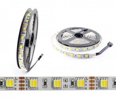 Фото1 AVT-300W-WW 5025-12V - LED лента 2в1, SMD5025, белый холодный+теплый, 60 д/м, 12V