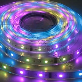 Фото1 WID-RGB-2 Magic Color Цифровая многоцветная RGB LED лента герметичная IP65, 30xSMD5050