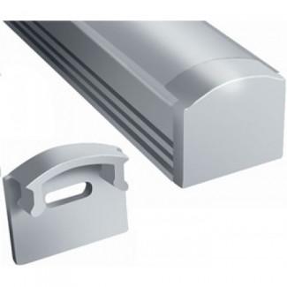 Фото1 ЗП-12 - Торцевая заглушка для LED профиля серии ЛП высотой 12мм, без отверстия, цвет - серый