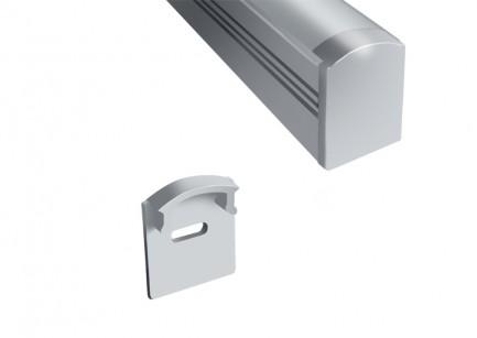 Фото1 ЗПО-17 - Торцевая пластиковая заглушка для LED профиля серии ЛП высотой 17мм, с отверстием для прово