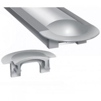 Фото1 ЗПВ - Торцевая заглушка для LED профиля серии ЛПВ с фланцем, цвет - серый