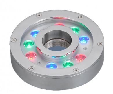 Фото1 ZR-4J0906 - RGB LED светильник для фонтана, 9x3W