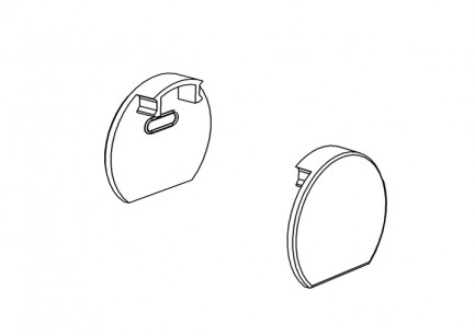 Фото1 ЗСК - Торцевая пластиковая заглушка круглая для круглого LED профиля ЛСК, цвет - серый