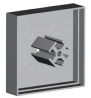Фото1 ЗСМ - Торцевая пластиковая большая заглушка квадратная для угловых LED профилей ЛСУ, цвет - серый