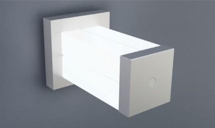 Фото4 ЗСМ - Торцевая пластиковая большая заглушка квадратная для угловых LED профилей ЛСУ, цвет - серый